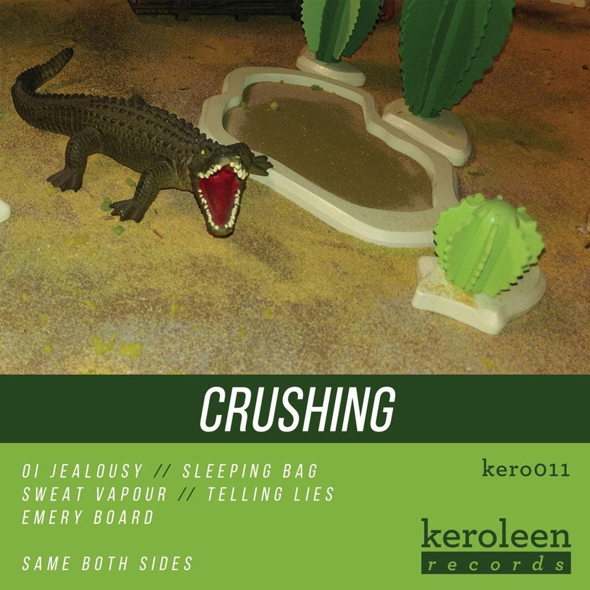 crushing self titled album art crocodile