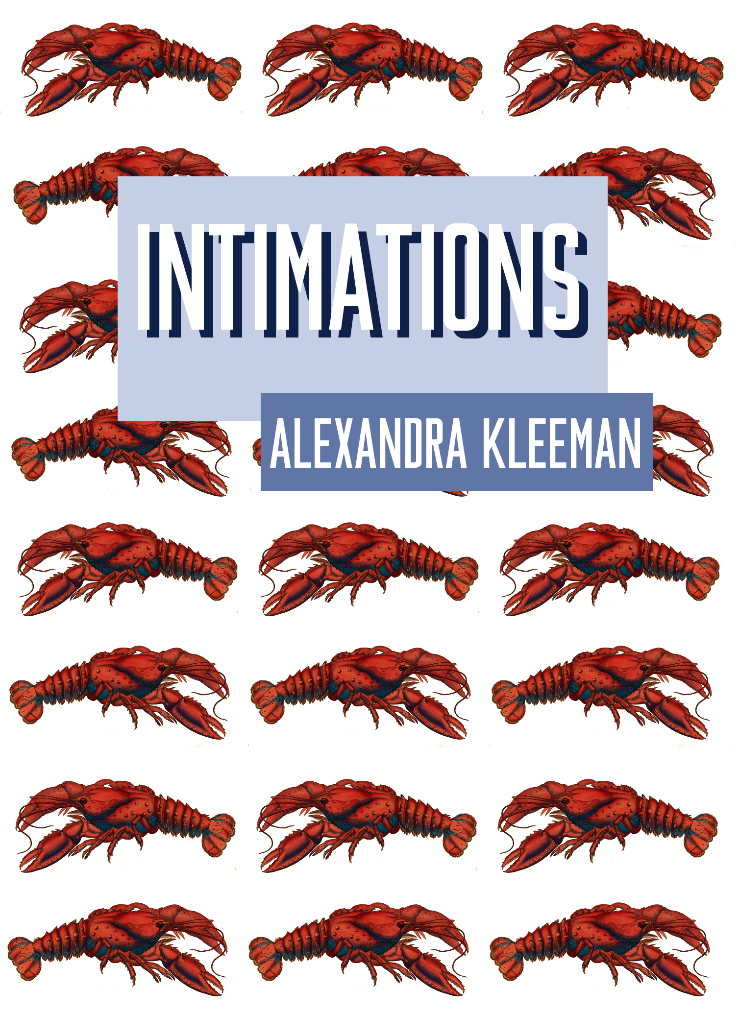 alexandra kleeman intimations fan cover lobsters